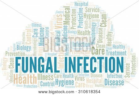 Fungal Infection Word Cloud Vector Made With Text Only