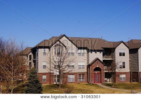 Apartment Building Complex Townhome