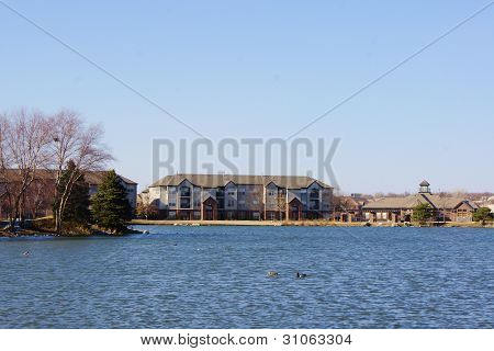 Apartment Building on the Lake