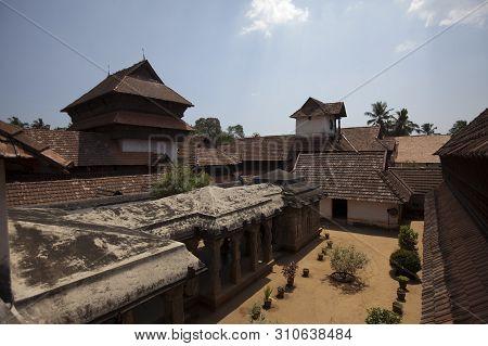 The Ancient Wooden Palace Padmanabhapuram Of The Maharaja In Trivandrum, India