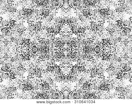 Black And White Animal Seamless Pattern. Watercolor Hand Drawn Print.  African Exotic Camouflage. Ge