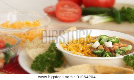 A Bowl of Hot Chili Soup