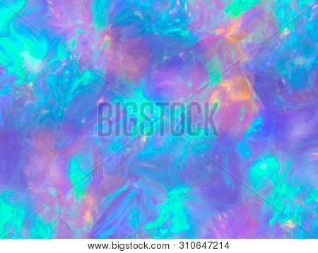 Opal Gemstone Background. Trendy Template For Holiday Designs, Invitation, Card, Wedding, Save The D
