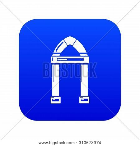 Archway Decorative Icon Blue Vector Isolated On White Background