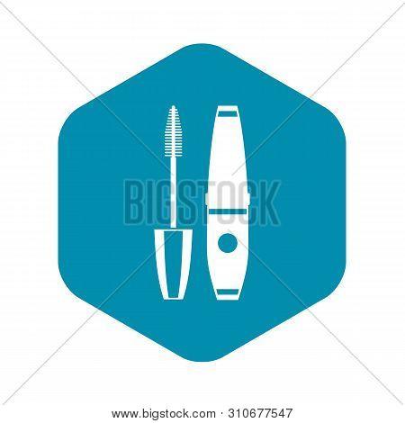 Mascara, Mascara Brush Icon. Simple Illustration Of Mascara, Mascara Brush Vector Icon For Web