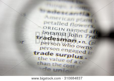 The Word Or Phrase Tradesman In A Dictionary
