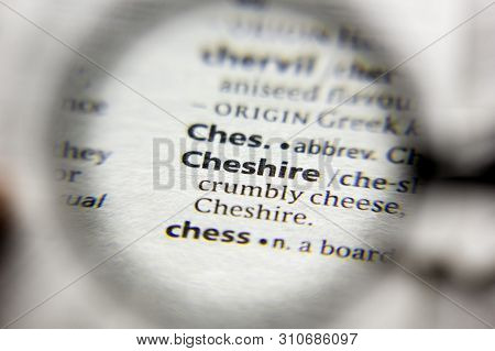 The Word Or Phrase Cheshire In A Dictionary