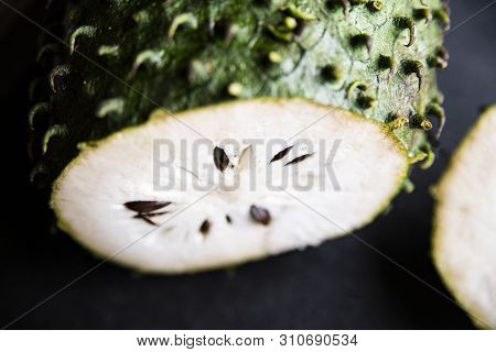 Guanabana, An Exotic Fruit. Sweet Tropical Green Fruit