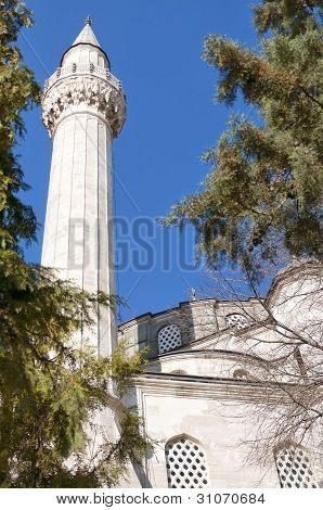 A view of the old sokullu pasa camii Mosque in Istanbul Turkey. poster