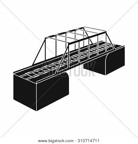 Isolated Object Of Bridge And Sea Logo. Collection Of Bridge And Columns Stock Vector Illustration.