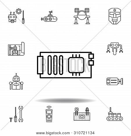 Robotics Mainboard Outline Icon. Set Of Robotics Illustration Icons. Signs, Symbols Can Be Used For