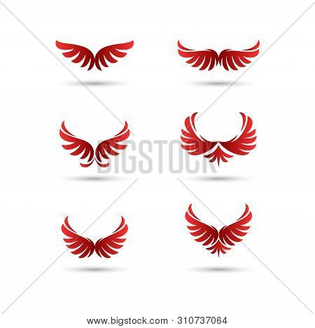 Vector Wings Logo Collection,wing Logo Company, Flying Wing Icon, Eagle Wing Logotype, Eagle Brand,f