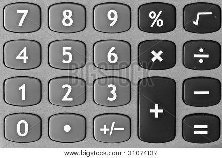 calculator keyboard monochrome
