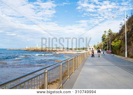 People Enjoying The Long Weekend In Wollongong, Nsw's Third-largest City, Known For Skydiving, Art G