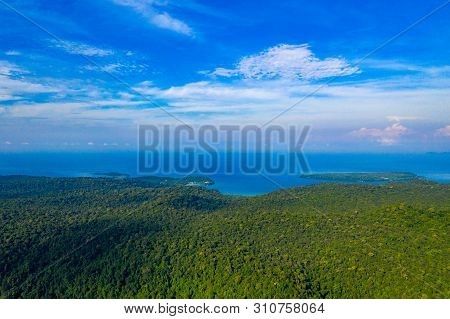 Blue Sky And Turqouise Sea Ocean At Koh Kood East Of Thailand Island.