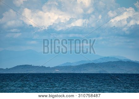 The Environment Of Munnok Island, East Of Thailand Island., Very Beautiful Open Sky, Cloud, Sea, And