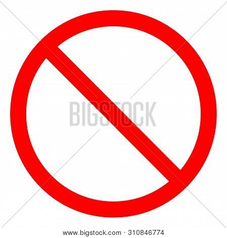 No Sign Empty Red Crossed Out Circle,not Allowed Sign Isolate On White Background,vector Illustratio