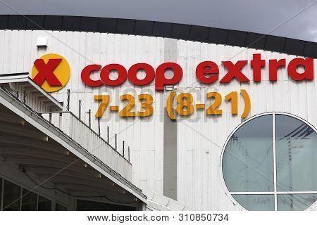 Hemne, Norway - July 21, 2015: Coop Extra Supermarket In Hemne, Norway. It Is Part Of Coop Norge Coo