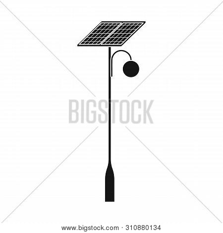 Isolated Object Of Lamppost And Solar Logo. Collection Of Lamppost And Alternative Vector Icon For S
