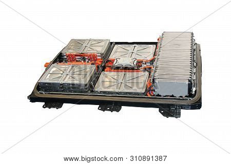 The Battery Power Units Of A Modern Electric Vehicle.
