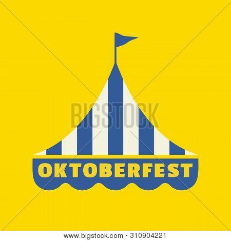 Handdrawn Oktoberfest Flat Color Vector Icon. Oktoberfest Fair Event Design Element. Bavarian Beer F