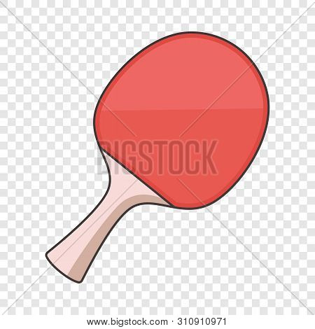 Ping Pong Paddle Icon. Cartoon Illustration Of Ping Pong Paddle Vector Icon For Web Design