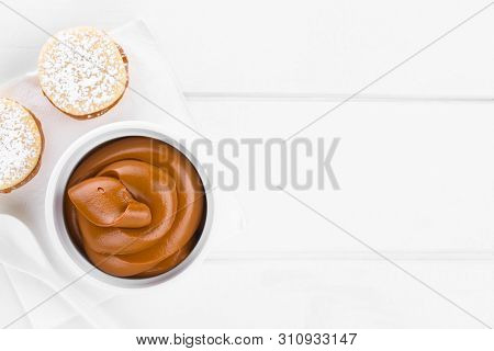 Latin American Sweet Caramel-like Manjar Or Dulce De Leche Used As Spread Or Filling In Baking With