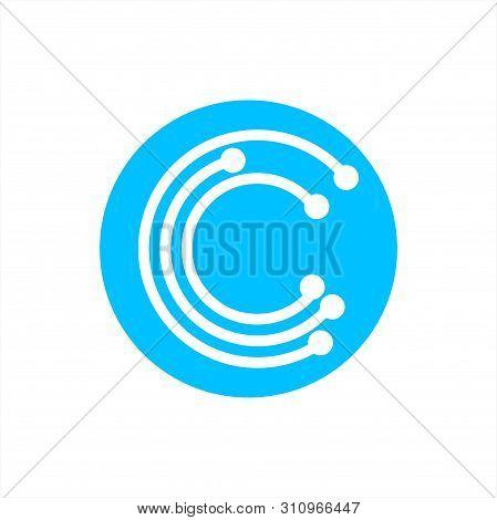 Simple Initials C, Cc, Ccc Geometric Network Line And Digital Data Logo