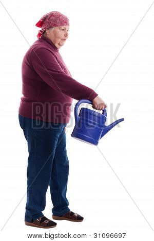 Senior Holding A Watering Can 2