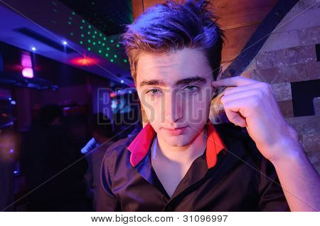 Cool boy in the disco