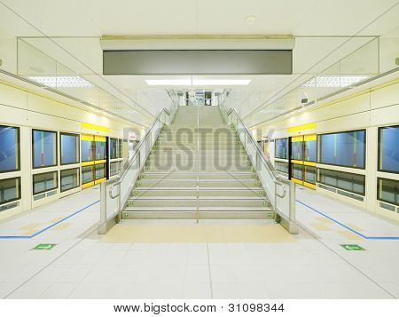 Stair in subway station
