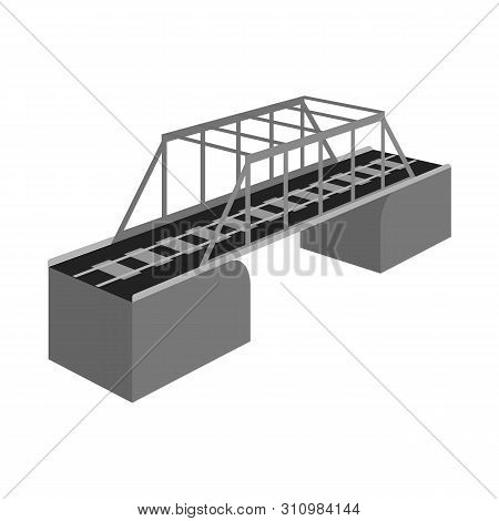 Isolated Object Of Bridge And Sea Symbol. Collection Of Bridge And Columns Stock Symbol For Web.