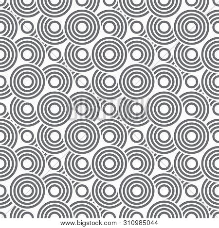 Vector Art Deco Seamless Pattern. Modern Stylish Texture With Regularly Repeating Geometrical Shapes