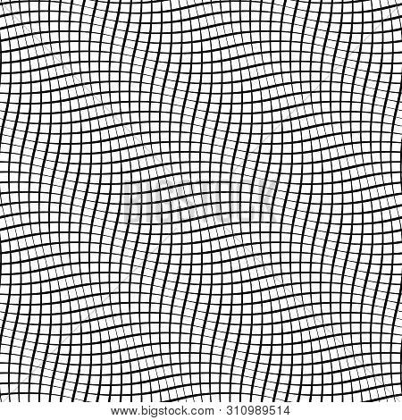 Snakeskin Seamless Pattern. Snake Skin Print. Optical Illusion Background Made Of Wavy Lines.