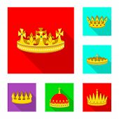 bitmap design of medieval and nobility symbol. Set of medieval and monarchy stock bitmap illustration. poster