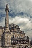 The laleli mosque situated in the turkish city of Istanbul. poster