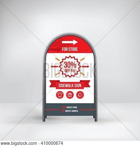 Design Signs For Retail Restaurant Use, Sidewalk Sign, Vector