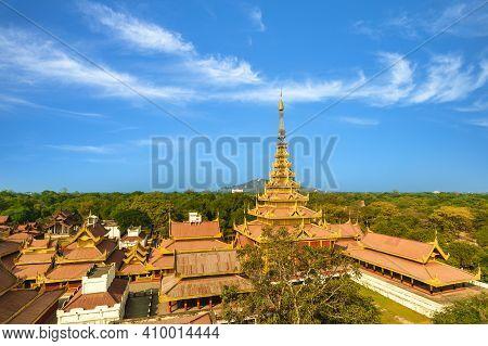 View Over Mandalay Palace Of Mandalay, Myanmar Burma