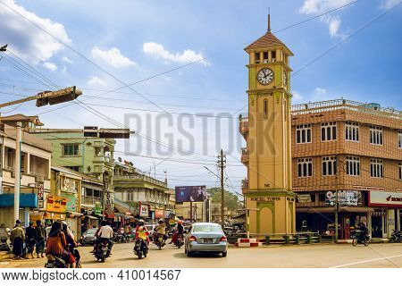 February 12, 2016: Purcell Tower Located At The Downtown Of Pyin Oo Lwin, Myanmar Burma. The Tower B