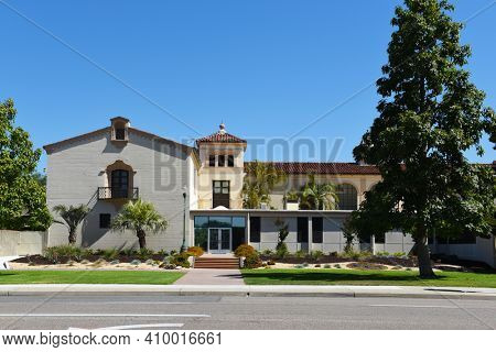 FULLERTON, CALIFORNIA - 21 MAY 2020: Financial Aid Office on the campus of Fullerton College.