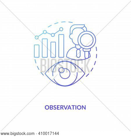 Observation Navy Gradient Concept Icon. Hypotheses And Theories Idea Thin Line Illustration. Qualita