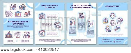 Stimulus Checks Guidance Brochure Template. Eligible To Apply. Flyer, Booklet, Leaflet Print, Cover