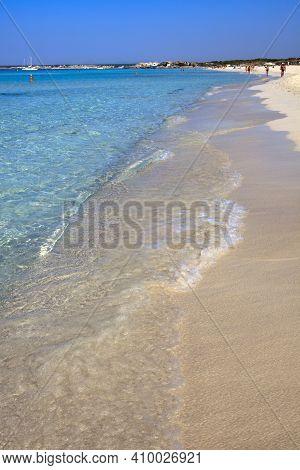 Es Trenc, Majorca / Spain - August 25, 2016: Clear Water At Es Trenc Beach, Colonia De Sant Jordi, M