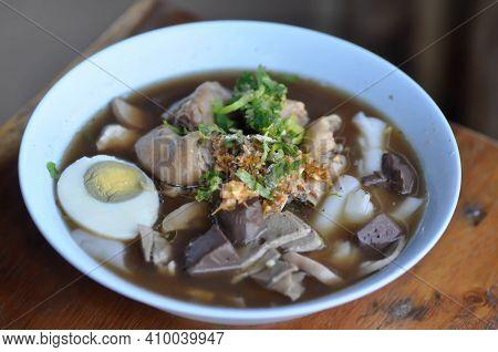 Noodles, Chinese Noodles Or Pork Noodles Or Thai Noodles