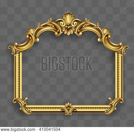 Gold Classic Frame Of The Rococo Baroque