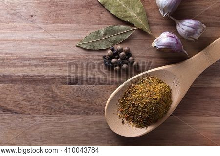 Spices. A Set Of Main Spices For Different Dishes.