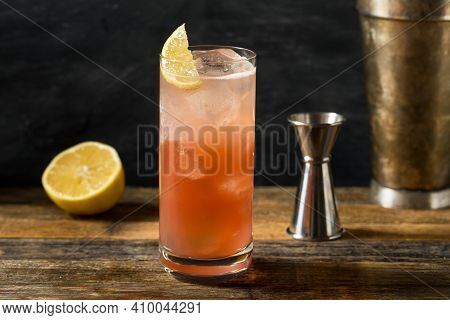 Refreshing Cold Sloe Gin Fizz Cocktail