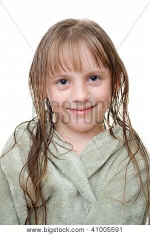 Girl after a shower