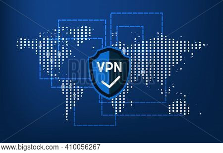 Virtual Private Network Cyber Web Security And Privacy Concept Secure Vpn Online Connection Personal