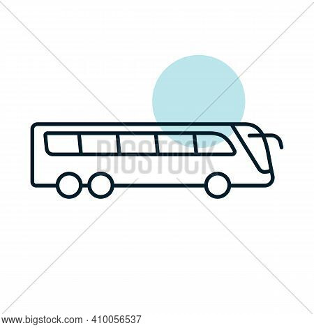 Travel Bus Flat Vector Icon. Graph Symbol For Travel And Tourism Web Site And Apps Design, Logo, App